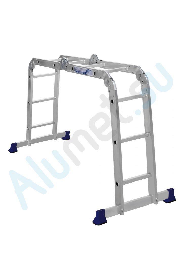 Алюминиевая лестница трансформер алюминет